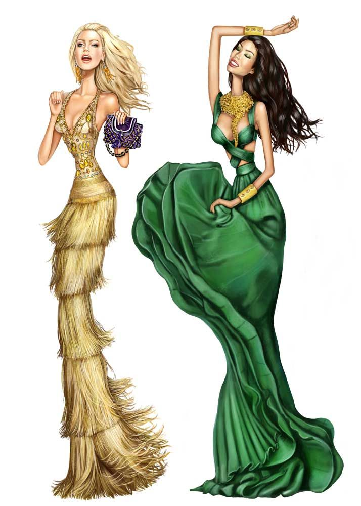 Pergamino.  Never mind the odd proportions, that green dress and the accessories are CRAZY gorgeous!!