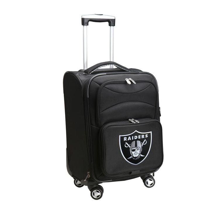 NFL Oakland Raiders 21 in. Black Carry-On Spinner Softside Suitcase