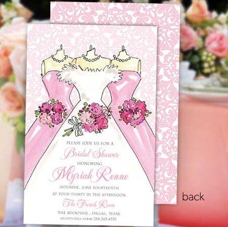 Wedding Dress Bridal Shower Invitation Bridal Shower Invitation - best of invitation wording lunch to follow