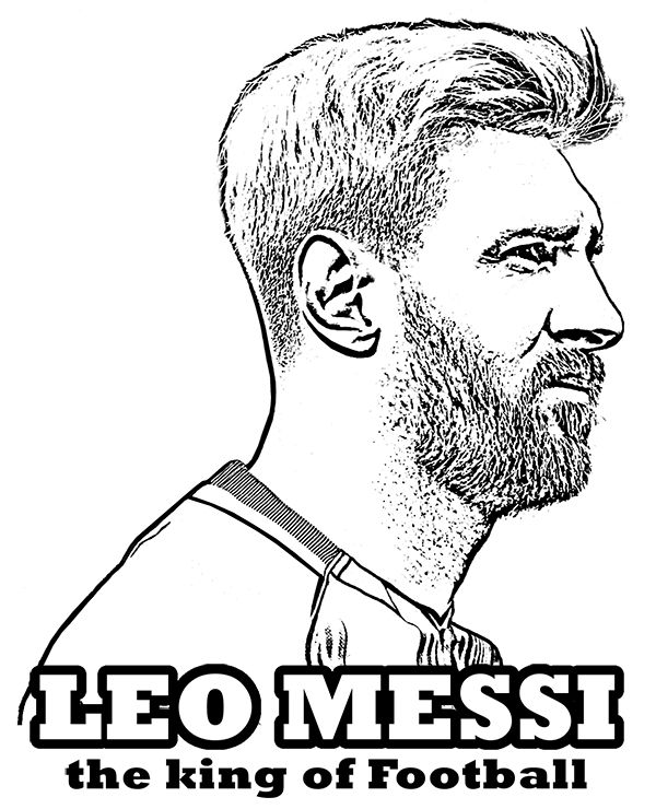 soccer star messi coloring pages - photo#7