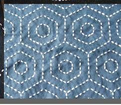 Broderie géométrique sashiko