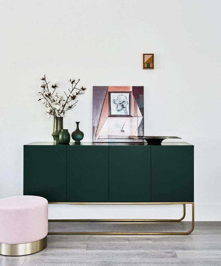 colour confidence how to embrace emerald and brass at home trendy furniturepink - Trendy Furniture Colors