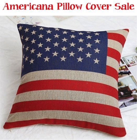 Decorative Pillows Without Covers : This Americana Pillow Cover is such a great way to reinvent a space without breaking the budget ...