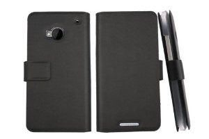 $16 on Amazon.com New Ultra-thin Side Genuine Flip Real Leather Case Cover for HTC One M7