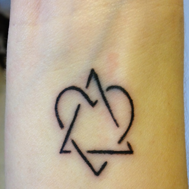 Adoption symbol representing love between adoptive family for Tattoos symbolizing parents