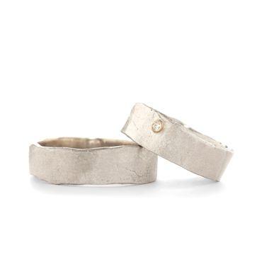 Eenvoudige zilver trouwringen | Wim Meeussen &CTRA Zilveren Juwelen Antwerpen
