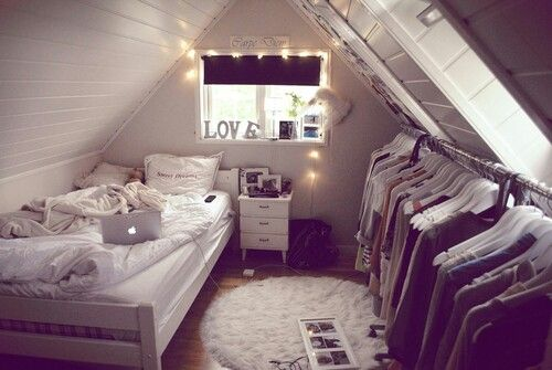 When i'm older I want an old attic and I want to make it into a nice cozy room and clean it up nicely. It will be white walls and will look quite like this one.