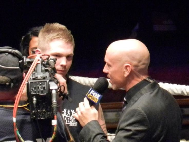 I regularly host fight nights on Foxsports. Live to air interviews are always challenging.