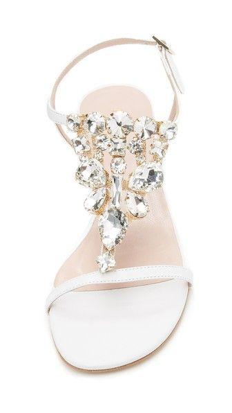 Crystal embellished bridal sandals by kate spade new york #bridal #sparklesandals