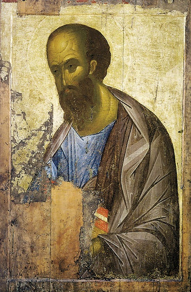 Apostle Paul by Andrey Rublyov, 1410-1420. The icon is kept in Tretykov Gallery…