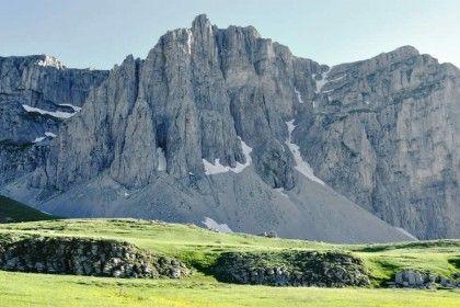 Rocky mountaintops in Vikos Aoos Geopark, Greece