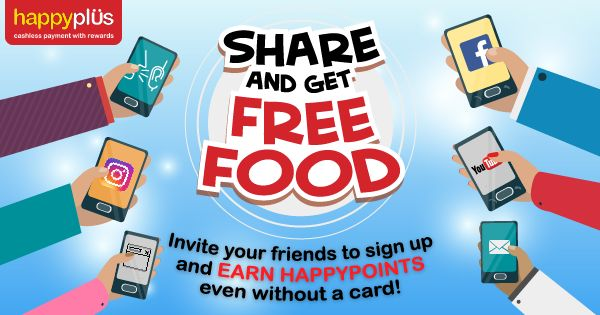 Help me get more Happypoints for Free Food by sharing this post! :) #HappyplusCard