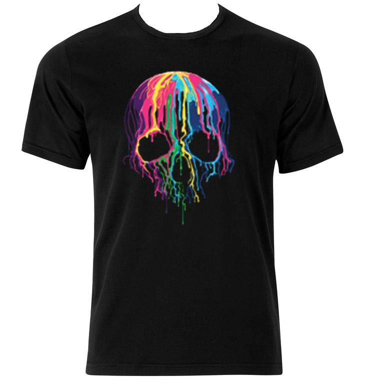Tie Dye Skull T-Shirt by TACustomGraphix on Etsy