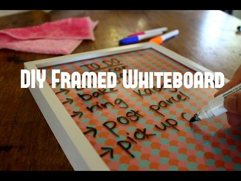 It has never been so easy to be organised with this DIY Framed Whiteboard!