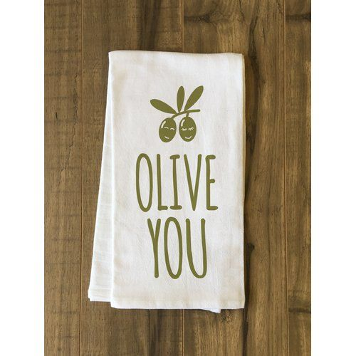 Found it at Joss & Main - Olive You Green Tea Towel