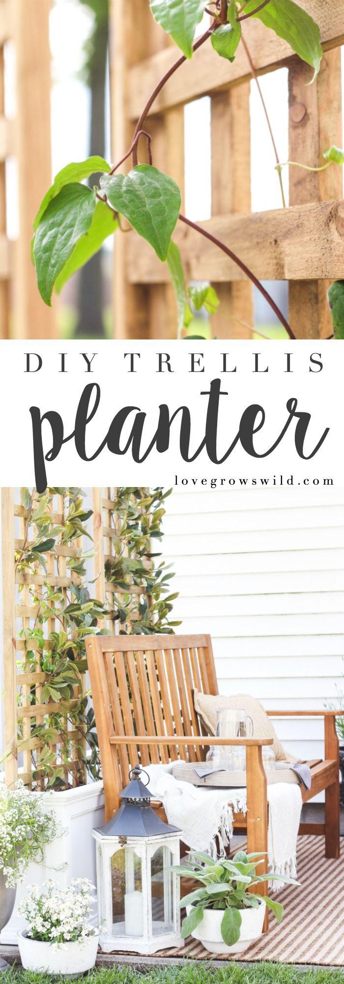 Diy Trellis Planter Diy Trellis