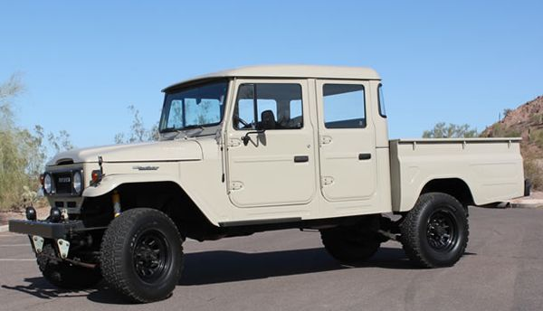 For Sale: 1963 Toyota Land Cruiser FJ45 Crew Cab - GRAB A WRENCH