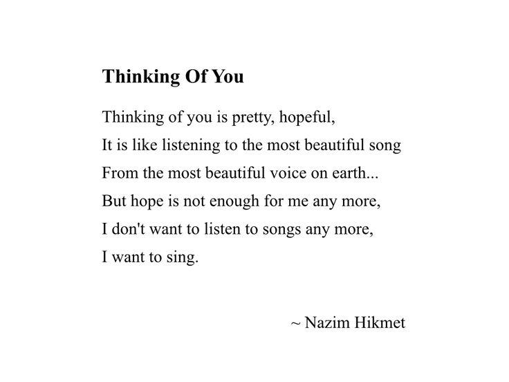 Nazim Hikmet. Poem. Poetry. Love