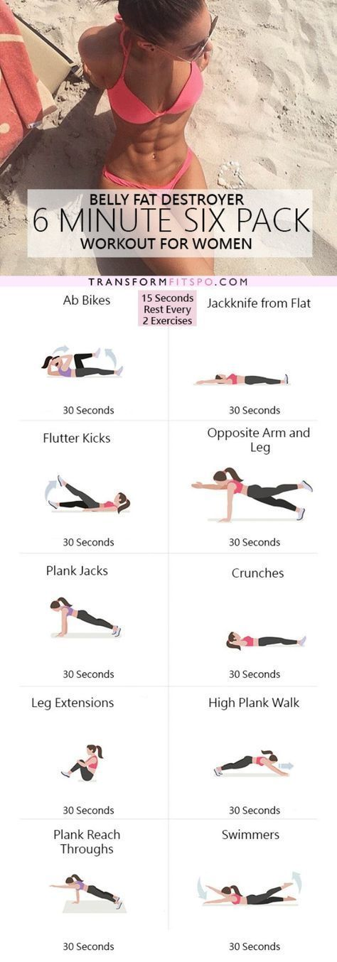 Whether you have an hour or five minutes to work out – one of these 11 Best 6-Pack Ab Workouts will help you get those washboard abs!