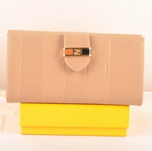 Fendi Apricot Soft Calfskin Leather Bi-fold Wallet             $129.00