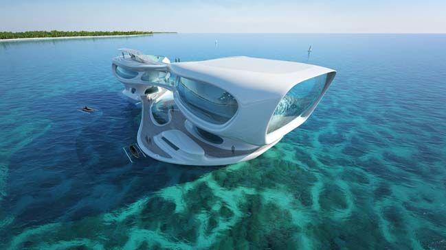 Futuristic architecture of Marine Research Center in Indonesia