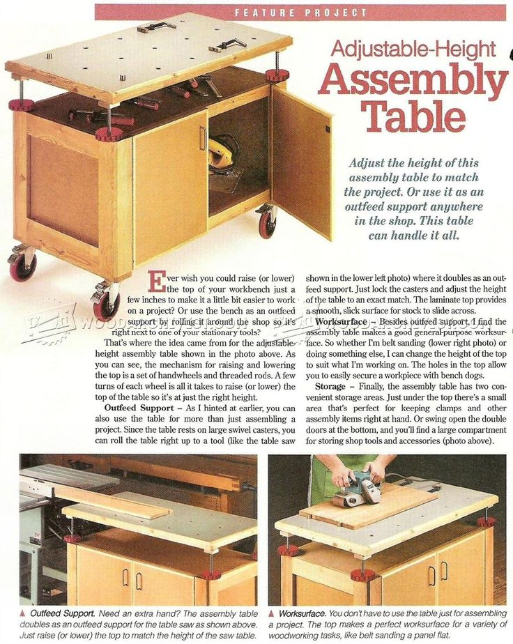 #2340 Assembly Table Plans - Furniture Assembly Workshop Solutions