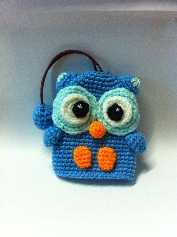 Blue  Owl Key cover on Etsy, ฿408.50