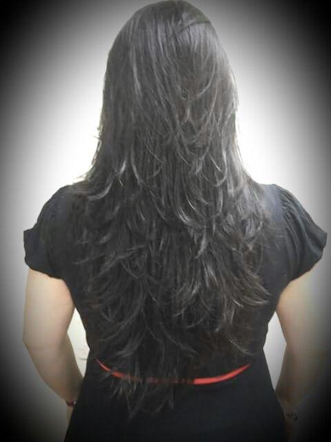 Cabelo longo, corte em camada (MY HAIR)