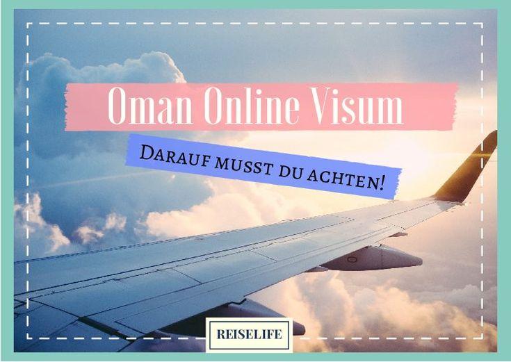 Oman Visum online beantragen - Ein Erfahrungsbericht! Um im Oman euren Urlaub zu verbringen, benötigt ihr ein Visum. Da die Visums-Wartezeit am Flughafen wohl recht hoch sein soll, habe ich für euch einmal das Oman Visum online beantragt und im Folgenden erkläre ich euch worauf ihr bei der Beantragung eures Online Visums achten müsst. 1.
