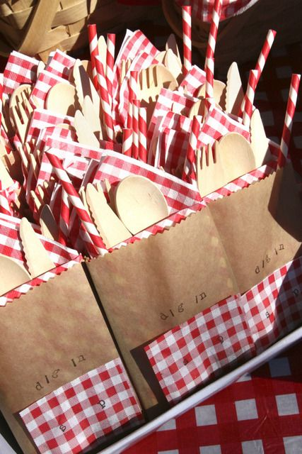 Picnic - Red  White Gingham Birthday Party Ideas | Photo 34 of 43 | Catch My Party