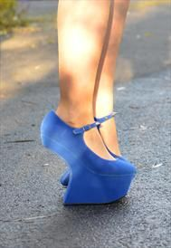 Brand New Electric Blue Heelless shoes size 5