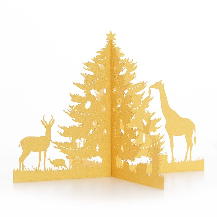 African Christmas Three Dimensional Fold Out Tree