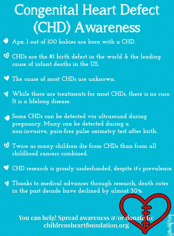CHD Awareness - Are you CHD Aware? Quick facts about congenital heart defects. You can help by sharing information, &/or by donating to The Children's Heart Foundation to support CHD research. www.childrensheartfoundation.org