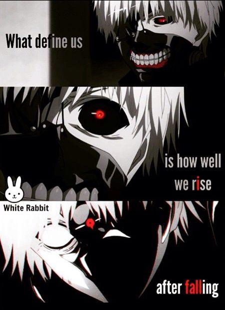 Tokyo Ghoul. A coisa que definimos-nós e como levantamos-nós depois caimos