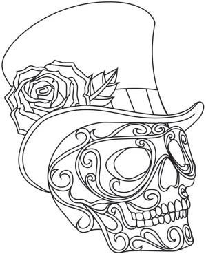 harlequin coloring pages | Harlequin Masquerade - Skull_image | Art - DEF | Skull ...