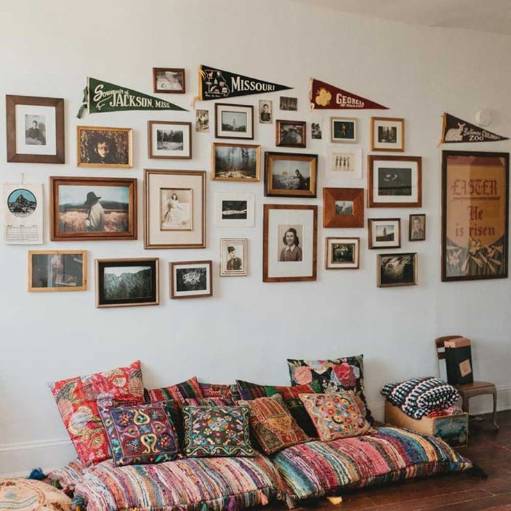 153 Best Gallery Walls Images On Pinterest | Gallery Walls, Apartment  Interior And Bedroom Ideas Part 63