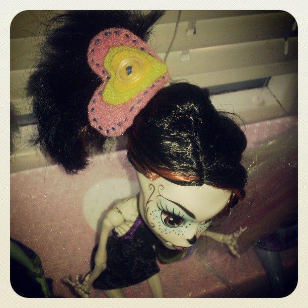 Heart hair band for #monsterhigh #SkelitaCalaveras
