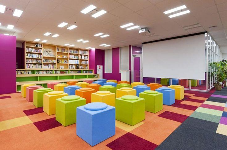 teamlab design pikiv office with 250m interactive work desk