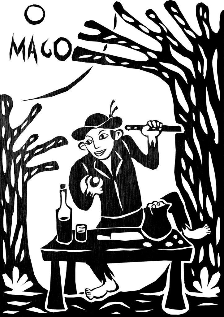 O MAGO  O carta que simboliza o impulso criador, espontaneidade, destreza, habilidade e eloquência foram figuradas por João Grilo (personagem fictício dos contos populares de Portugal e do Brasil. Apareceu com destaque na Literatura de Cordel brasileira e, na condição de pícaro invencível, reapareceu na obra Auto da Compadecida, escrita por Ariano Suassuna em 1955).