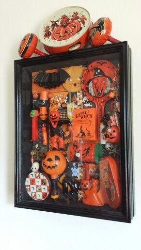 Antique Halloween Shadow Box