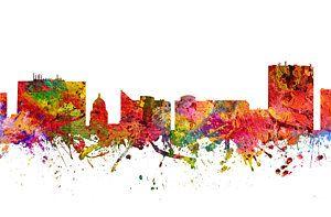 Boise Skyline Drawing - Boise Cityscape 08 by Aged Pixel