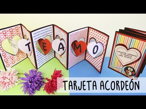 #TARJETA Acordeón Sencilla - Expresa tus SENTIMIENTOS - YouTube