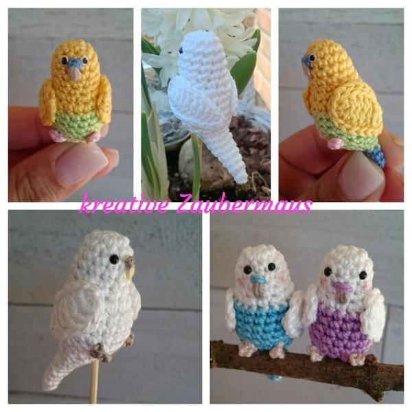 Der kleine Vogel / Wellensittich / Piepmatz möchte bitte unbedingt von Dir gehäkelt werden. Leg gleich los mit dem dekorativen Vogel. Viel Spaß beim Häkeln.