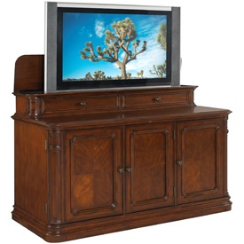 banyan creek brown with integrated tv lift cabinet motorized lift storage space