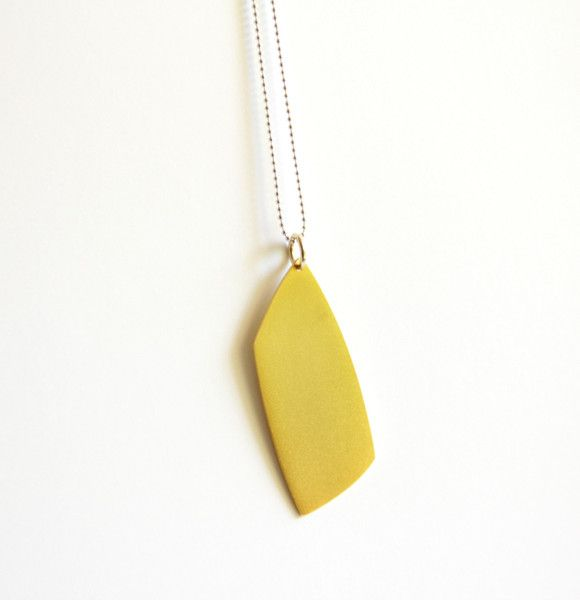 24K Gold Plated Sterling Silver Abstract Necklace