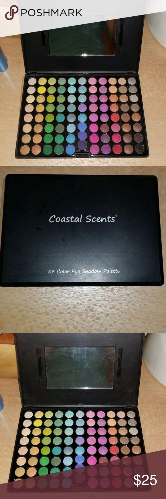 Coastal scents 88 color eye shadow palette Tried on. In excellent condition coastal scents Makeup Eyeshadow
