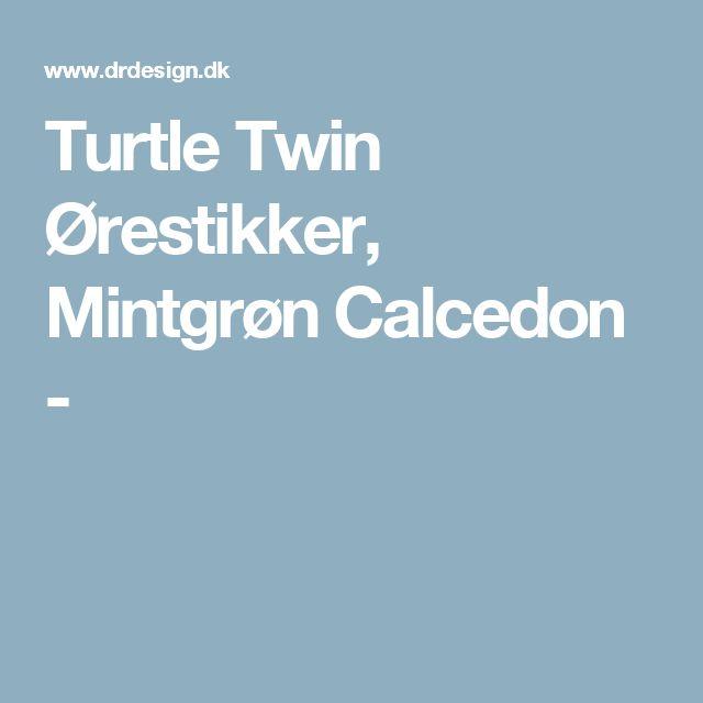 Turtle Twin Ørestikker, Mintgrøn Calcedon -