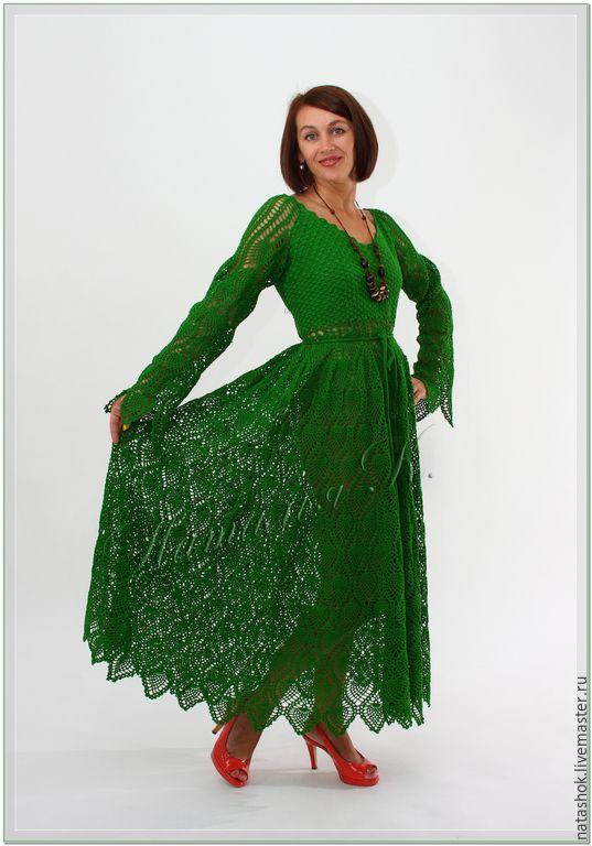 Купить Изумрудная россыпь - зеленый, изумрудный, платье, платье летнее, Платье нарядное, платье в пол