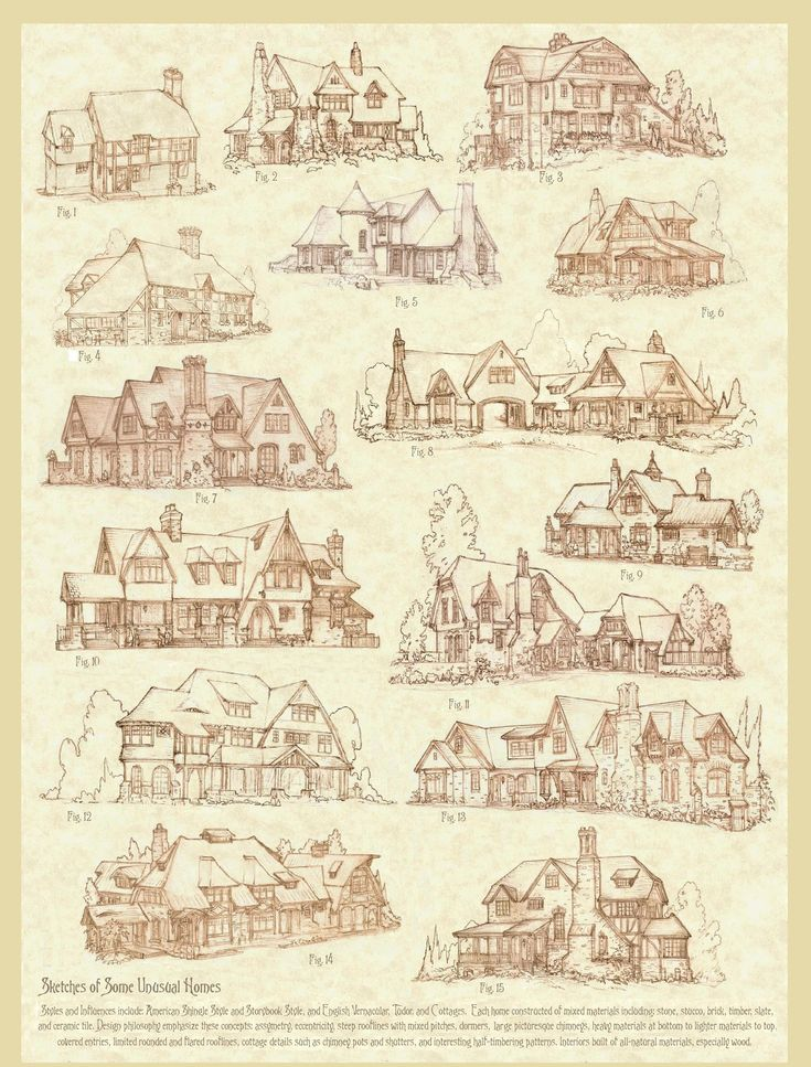 Sketches of Some Unusual Homes by ~Built4ever on deviantART