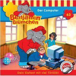 Hörbuch: Benjamin Blümchen 63: Der Computer Von Elfie Donnelly, Audiobooki w języku niemieckim <JASK>